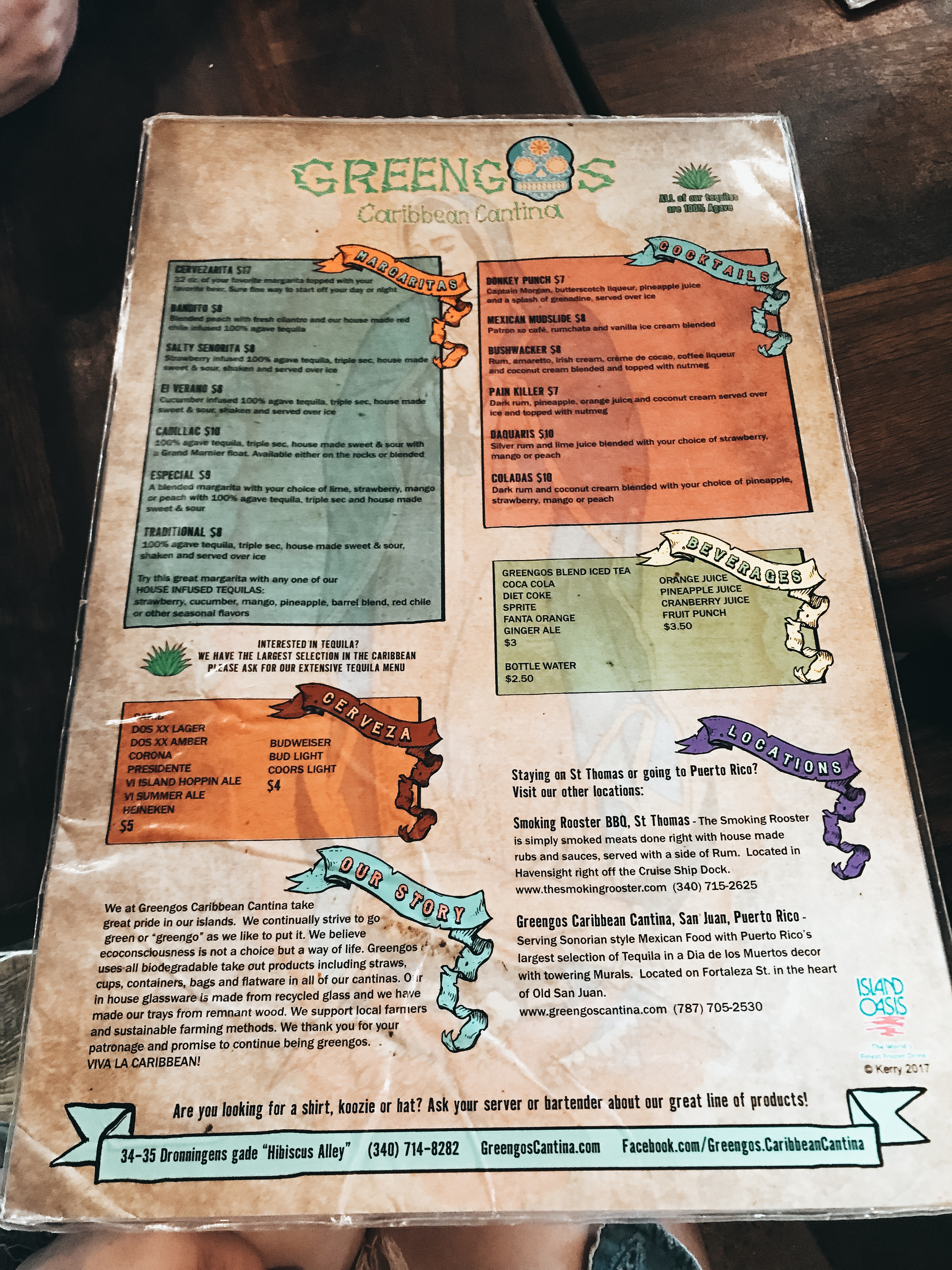 Greengos menu