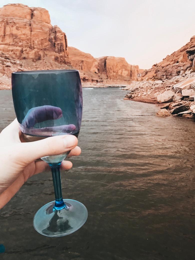 Drinking on the rocks