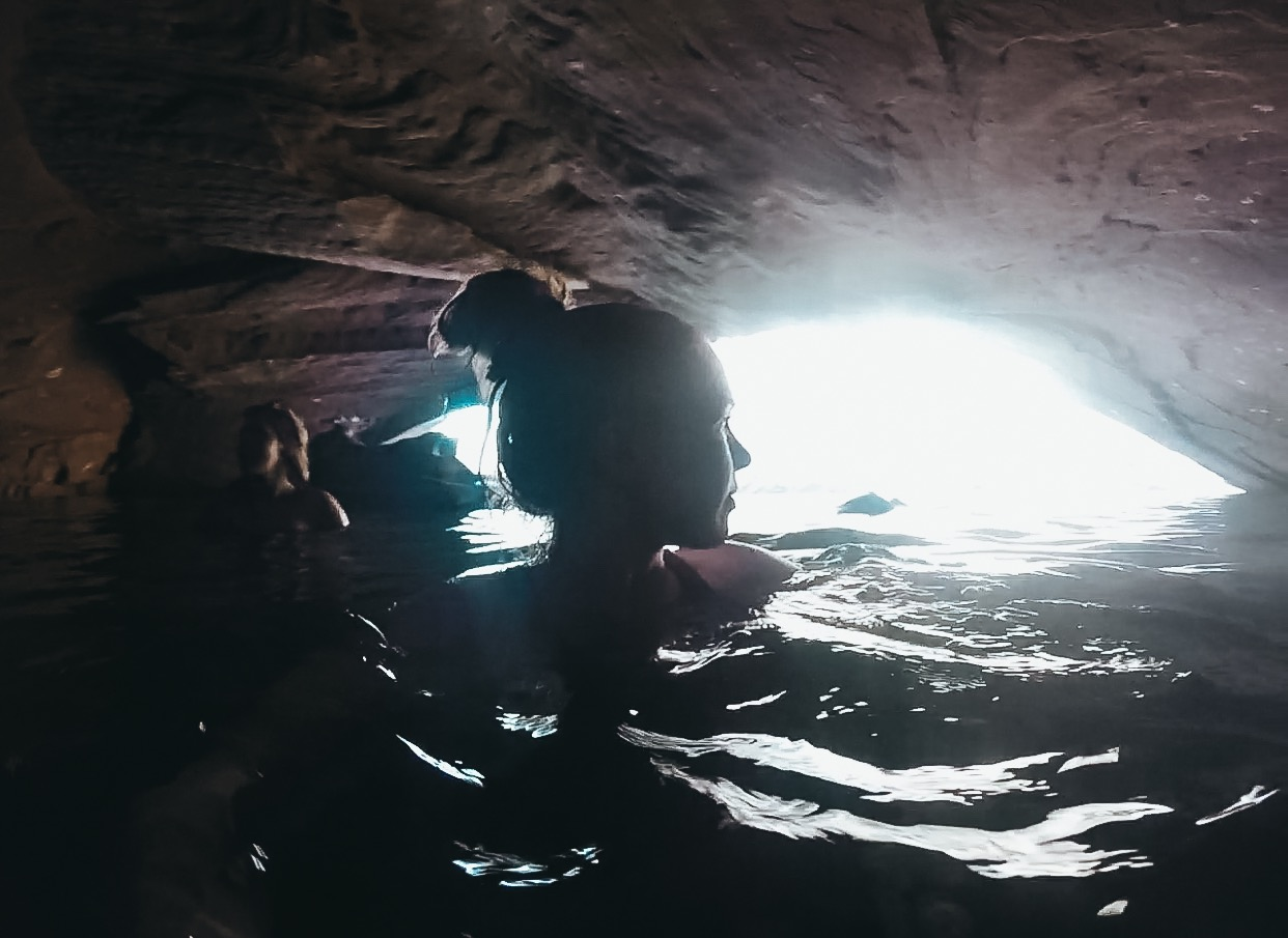 cave swimming
