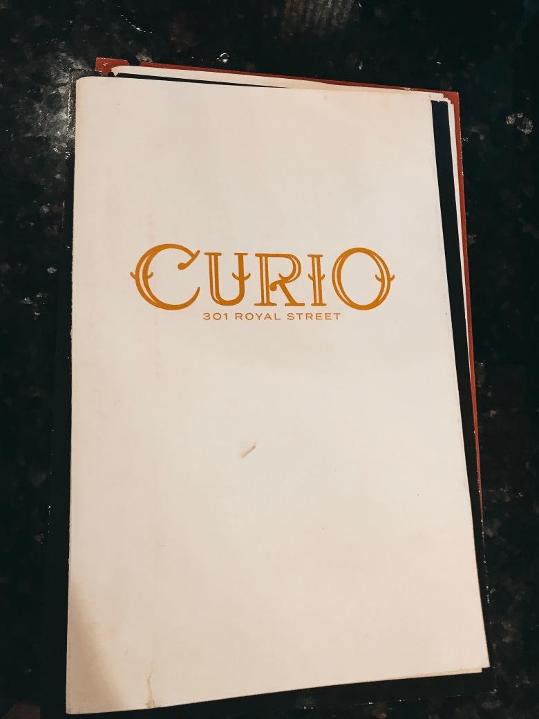 curio restaurant menu