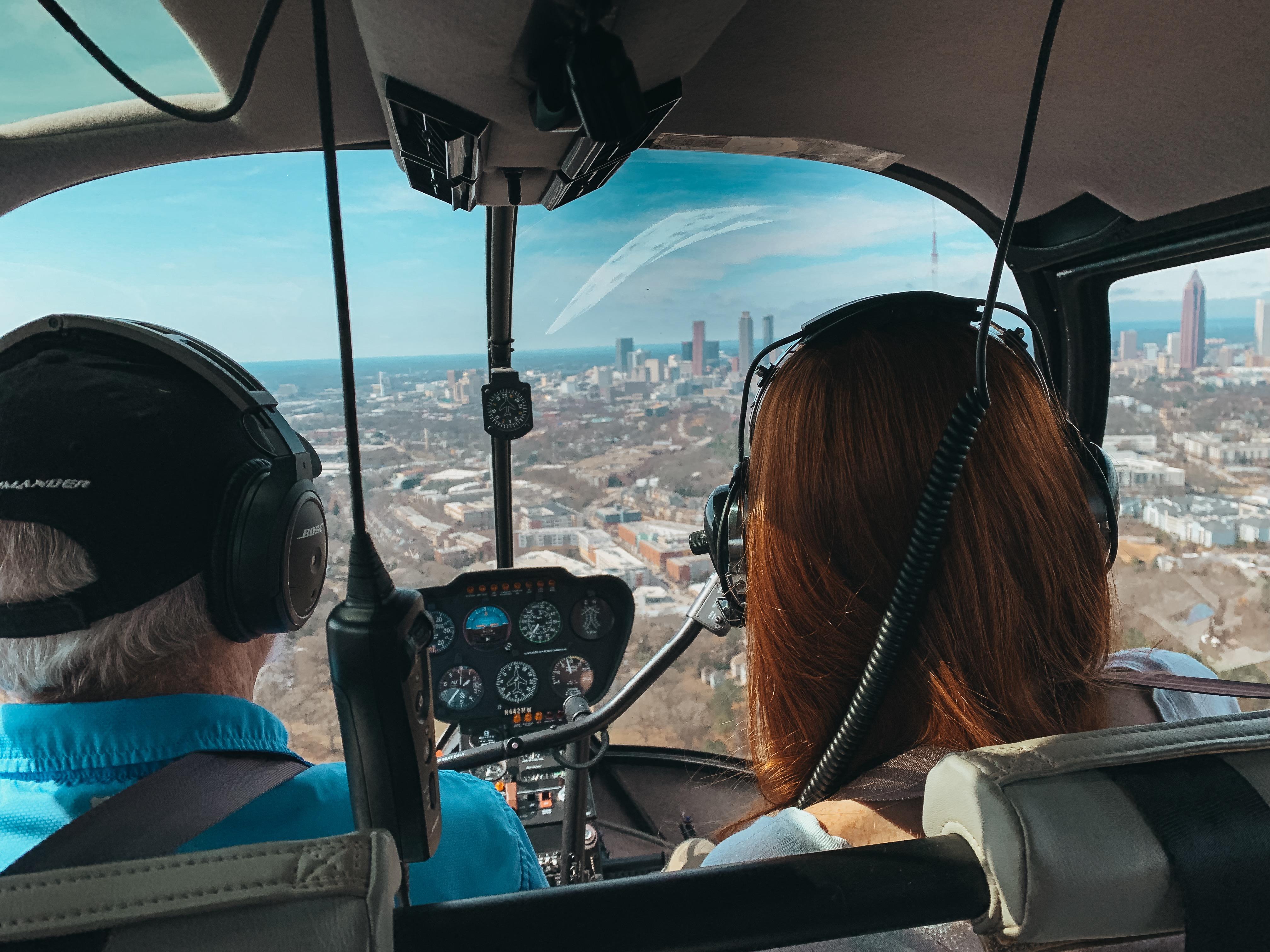 copilot, helicopter, flight lesson, atlanta