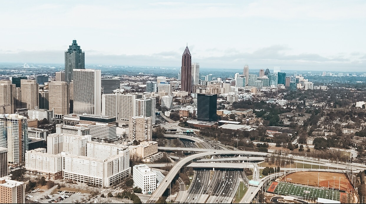atlanta helicopter view